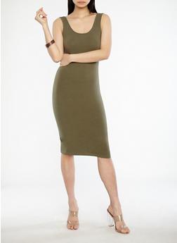 Solid Bodycon Tank Dress - 1094015050350