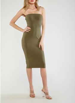 Strapless Midi Bodycon Dress - 1094015050351