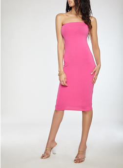 Strapless Midi Bodycon Dress - 1094015050351