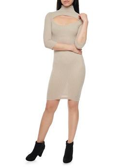 Cutout Ribbed Dress - 1094038341912