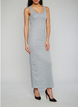 Rib Knit Maxi Tank Dress - 1094038347802