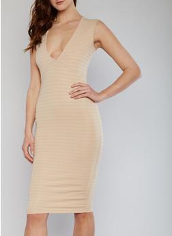 Plunging V Neck Bandage Dress - 1094038347987
