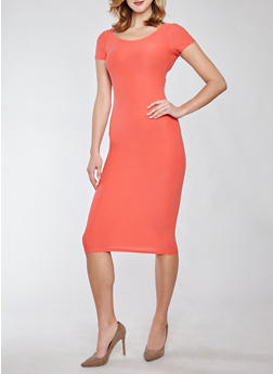 Soft Knit Bodycon Dress - 1094038348801