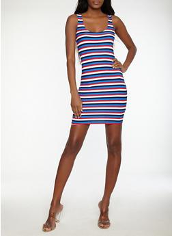 Striped Tank Dress - 1094038348957