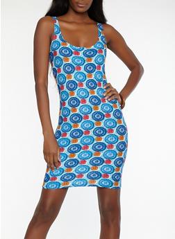 Printed Short Bodycon Dress - 1094038348961