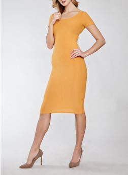 Soft Knit Bodycon Dress - 1094038349801
