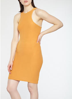 Soft Knit Racerback Bodycon Dress - 1094038349802
