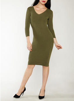 Keyhole Back Sweater Dress - 1094051060004