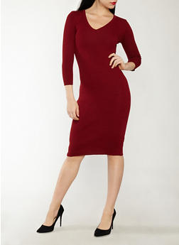 Keyhole Back Sweater Dress - 1094051060004