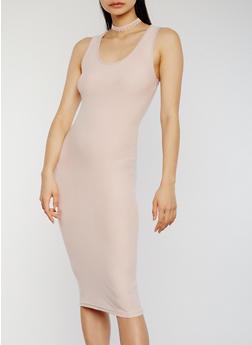 Soft Knit Midi Bodycon Tank Dress - 1094051062989