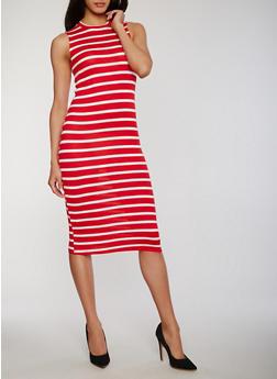 Sleeveless Striped Tank Dress - 1094051063036