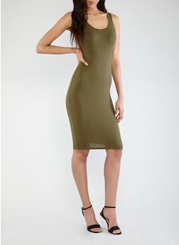 Rib Knit Tank Dress - 1094054266277