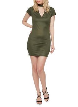 Mini Mockneck T Shirt Dress - 1094058751934