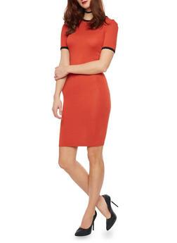 Mid Length Ringer T Shirt Dress - 1094058751981