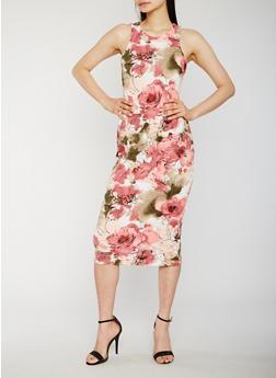 Floral Midi Tank Dress - 1094058752142