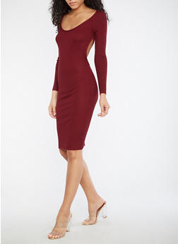 Sweater Dress with Open Back - 1094058752599