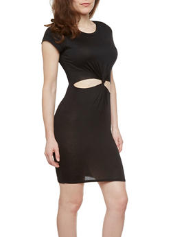 Cutout Dress with Twist Front - 1094058934003