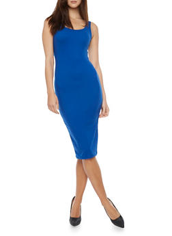 Sleeveless Midi Bodycon Tank Dress - 1094060581950