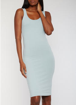 Sleeveless Solid Bodycon Tank Dress - 1094061639511