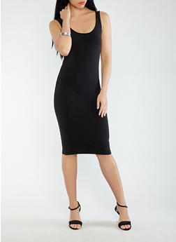 Basic Tank Dress - BLACK - 1094061639660