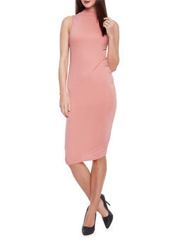 Sleevless Mock Neck Bodycon Dress - 1094073377710