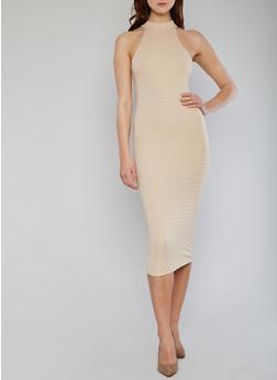 Sleeveless Mid Length Bandage Dress - 1096038347990