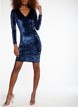Velvet Lace Up Back Dress - 1096051063245