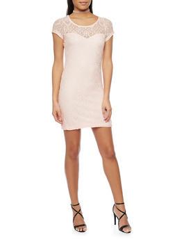 Short Length Lace Bodycon Dress - 1096058752682