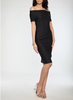 Off the Shoulder Bandage Dress - 1096058753468