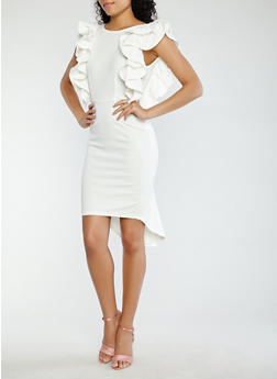 Ruffled High Low Dress - 1096062121874