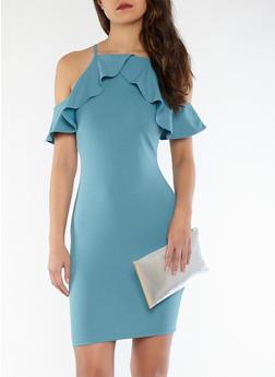 Off the Shoulder Ruffle Dress - 1096069390334