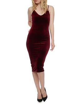 Velvet Slip Dress - 1096073375825