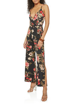 Wide Leg Floral Jumpsuit - 1096074012017