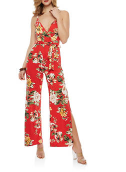 Wide Leg Floral Jumpsuit - 1096074012017