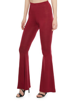 High Waisted Flared Pants - 1097058931115