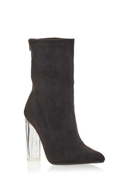 Translucent High Heel Bootie - 1106067242269