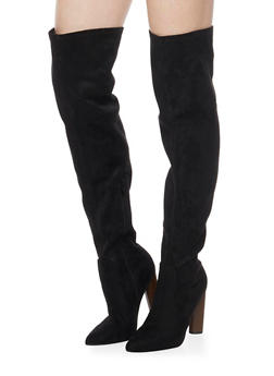 Over The Knee Pointed  High Heel Boots - BLACK F/S - 1106067242271