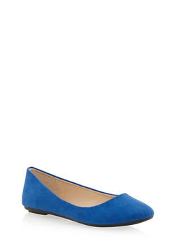 Round Toe Ballet Flats - BLUE F/S - 1110004060854