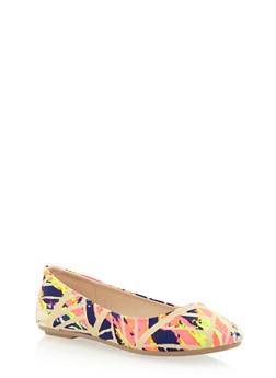 Round Toe Ballet Flats - 1110004060854