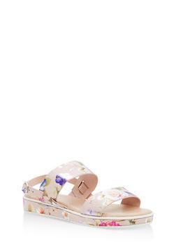 Double Strap Platform Sandals - BLUSH FABRIC - 1110004062377