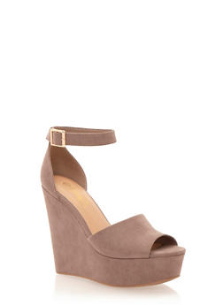 Platform Wedges with Chunky Ankle Straps - 1110004062420