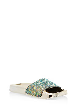 Glitter Metallic Slides - BLUE GLITTER - 1110004062732