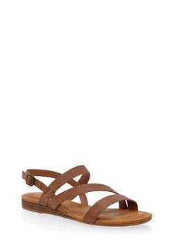Asymmetrical Strap Sandals - 1110004063272