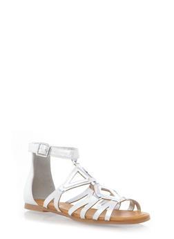 Closed Back Ankle Strap Gladiator Sandals - 1110004063467