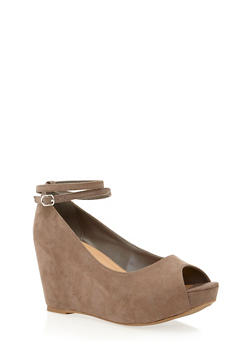 Platform Wedges with Open Toes - 1110004067410