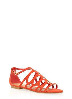 Lasercut Sandals with Side Buckle - 1110004067425