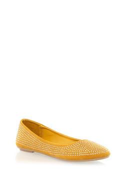 Rhinestoned Ballet Flats - 1110004067843