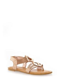 Strappy Glam Gladiator Sandals - 1110004067863