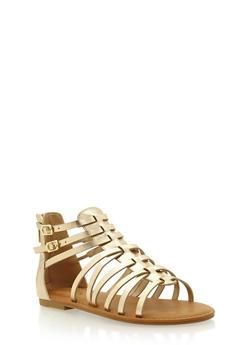Ankle Gladiator Sandals - 1110004068334
