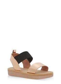 Double Strap Sling Back Platform Sandals - 1110004068770